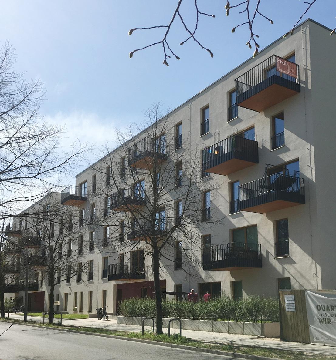 """Das """"Quartier Wir"""" in Berlin-Weißensee fördert mit vielfältigen Wohnformen das generationen-übergreifende Zusammenleben und ist ein urbaner Treffpunkt für den gesamten Kiez."""
