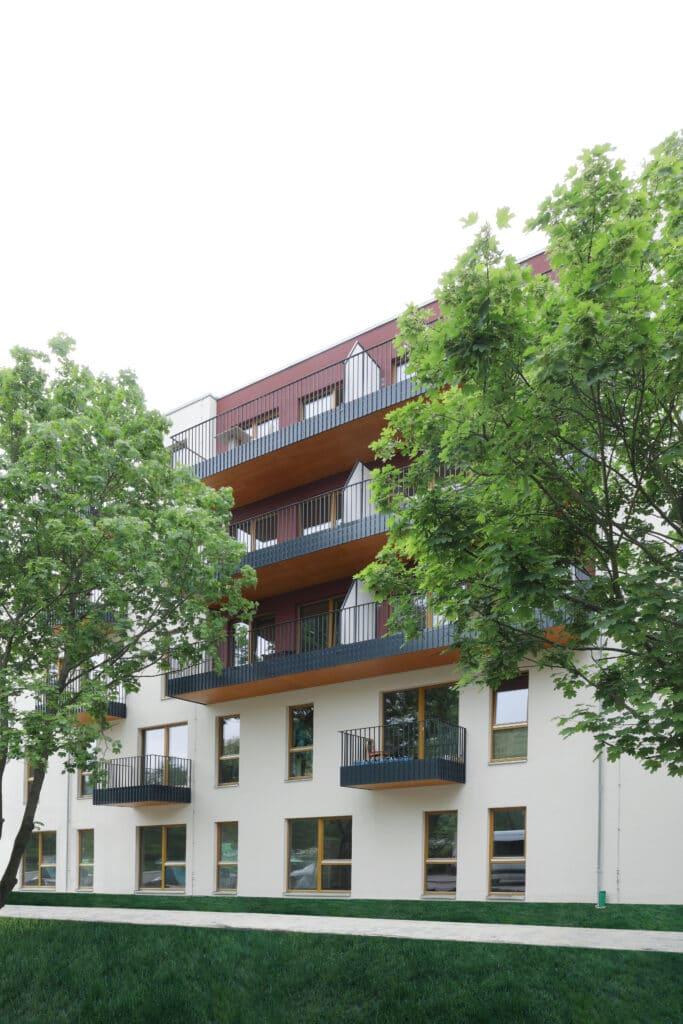 """Das """"Quartier Wir"""" ist ein gemischter Wohn- und Lebensort aus fünf verschiedenen Baukörpern."""