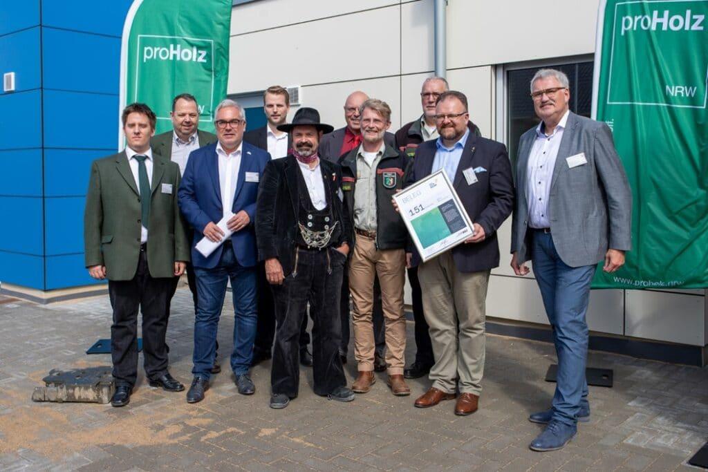 Pressegespräch in der in Holzbauweise errichteten Kita in Korschenbroich am 05. September 2019 (Bildquelle: PK-Media Consulting GmbH).